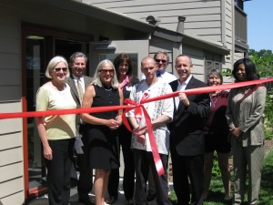 Mercy Housing California staff and residents joined Sen. Darrell Steinberg (third from right) to celebrate the opening of Ardenair Apartments in Sacramento.