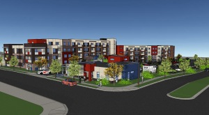 Rendering of Bluff Lake Apartment