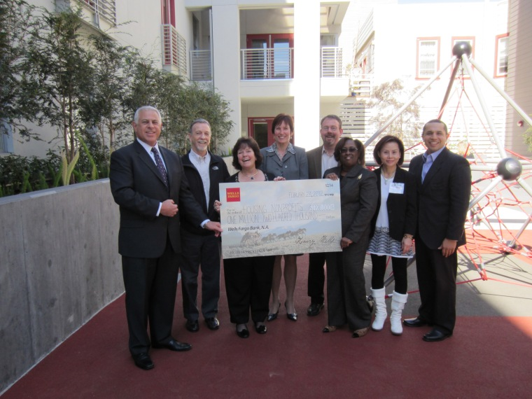Wells Fargo will announce grants to 20 housing nonprofits across California at Mercy Housing's Westbrook Plaza in San Francisco, Calif.