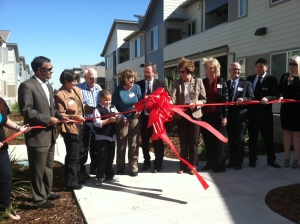 Ribbon cutting ceremony at the grand opening of Esperanza Crossing
