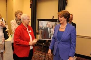 Sr. Pat McDermott and Congresswoman Nancy Pelosi at Mercy Housing's 2013 Advocacy Day in Washington D.C.