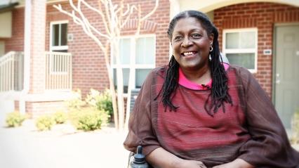 Mercy Housing resident Terri Ruffin