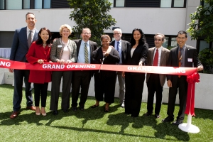 Left to right: Gabriel Speyer, Bank of America Merrill Lynch; Jane Kim, Supervisor for District 6, City and County of San Francisco; Christine Carr, Silicon Valley Bank; Doug Shoemaker, Mercy Housing California; Mico Williams, 1180 Fourth Street resident; Ken Reggio, Episcopal Community Services; Tiffany Bohee, San Francisco Office of Community Investment and Infrastructure; Dan Solomon, Mithun|Solomon; Eugene Lee, California Department of Housing and Community Development
