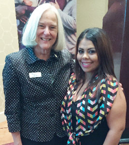 Denae with Mercy Housing CEO and President, Jane Graf. Denae shared her story at a Mercy Housing fundraiser in 2015