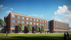 Rendering of the Kankakee River Station Senior Apartment. Construction is set to begin this fall in West Downtown Kankakee.