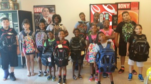Kids at Roseland Village are thrilled with their new backpacks!