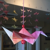 Mercy Housing residents fold more than 1,000cranes