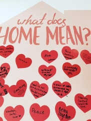"""What does home mean"" community board at HHAD 2017."