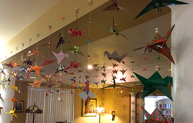 Mercy Housing residents fold more than 1000 cranes
