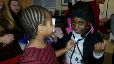 Feature 2_ Go Red Day - Youth Residents at Family Tree checking heart rate
